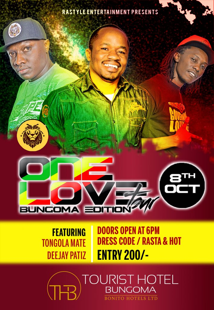 one-love-reggae-splash-tour-bungoma-poster